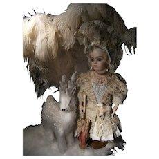 Charming, elegant antique Bru dress/outfit.