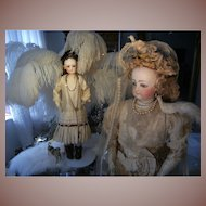 Absolutely antique  Royal style Victorian Brides dress and Tiara with veil.
