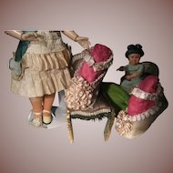 Gorgeous BRU style antique  doll shoes