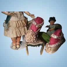 Gorgeous BRU style antique  doll shoes