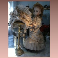 Beautiful antique dress for a doll from about  55cm. or 21,6 inches.