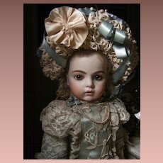 Unbelievable beautiful French dress and hat for doll 48cm. or 18.9 inches. tall.