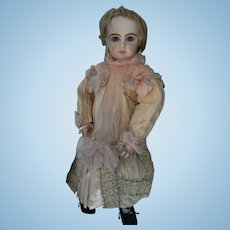 Top Haute Couture French real  antique dress for a doll from about 62cm or 24,5 inch.