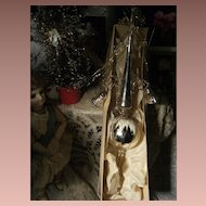 Antique Christmas tree topper for your feather tree , in his original box.