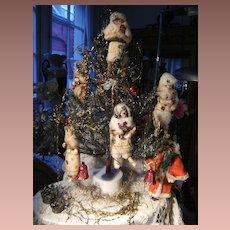 Cotton antique Christmas ornament a  little doll.