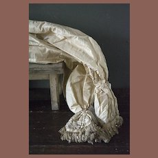 Beautiful amazing all French Louis XV satin  pillow sheets Long size .      I sell them one by one
