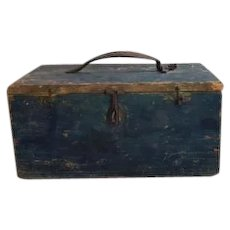 Beautiful Blue Swedish wooden box.