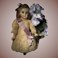 Wow.....what a beautiful all French lace dolls dress for your doll from 19,5 inch
