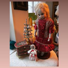 Beautiful Red doll dress for Christmas ? For 50cm. doll 20 inch.for Jumeau, Bru Steiner...