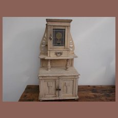 "Beautiful Jugendtil ""Horta""style little cabinet for at your antique dolls"