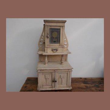 "Beautiful Jugendtil ""Horta""style little cabinet for at your antique dolls"