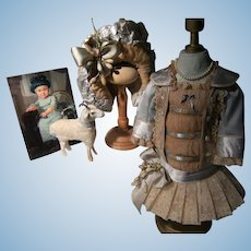 So beautiful, this Haute Couture French  BéBé dress and hat for a doll from 40cm or 15,8""