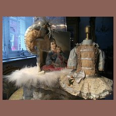 Pretty BéBé costume  and Hat for your antique Jumeau, Bru, or other French doll