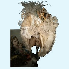 Fabulous French antique made Hat, for a antique doll from about 60/65cm or 23,6/25,2 inch
