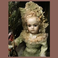 Wow.... What a  Beautiful French BéBé dress and hat  for your antique doll, Jumeau Bru or Steiner. 34cm or 13,4 ""