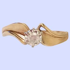 Diamond Solitare 10K Yellow Gold Engagement Ring 1.6 Grams 3/16 Carat