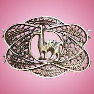 Sterling Silver Filigree Llama Bracelet Peru