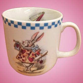 "Alice in Wonderland Mug Cup White Rabbit ""Drink Me"""
