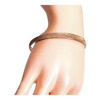 Les Bernard Signed Sterling Silver Vermeil Gold Stardust Bangle Bracelet
