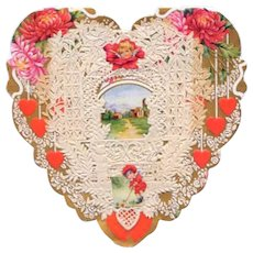 Vintage Valentine Heart Shaped Whitney Made Paper Lace Die Cuts Paper Lace