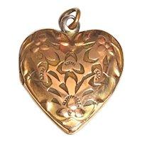 Vintage Heart Locket GF Gold Filled