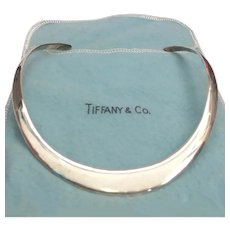 Vintage Tiffany Signed Sterling Silver Collar Necklace - Original Pouch