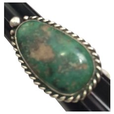 Native American Turquoise Sterling Silver Ring Size 7-1/4