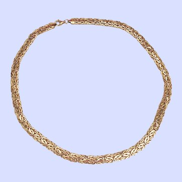 14k Solid Yellow Gold Byzantine Necklace, 18.7 grams- Gorgeous!