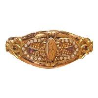 Victorian Bracelet Gold Filled Bangle Bracelet Signed EMCO