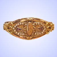 Victorian Bracelet Gold Filled Bangle Bracelet Signed EMCO