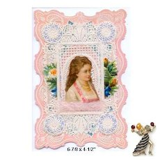 Antique Valentine: George C. Whitney Co. Valentine Ca. 1881