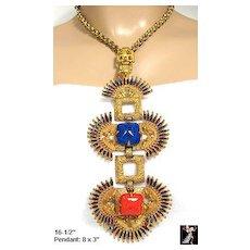 Castlecliff Vrba Necklace: Kissing Indians Pendant Necklace