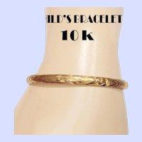 Victorian 10K Bangle Bracelet for a Small Wrist / Child