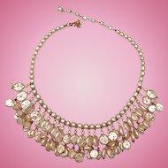 Miriam Haskell Baroque & Niki Nailhead Pearl Fringe Bib Necklace