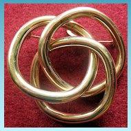 Vintage Tiffany 14K YG Circle Pin/Pendant