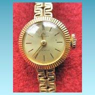 Fine Bucherer 18K YG Vintage Ladies Watch