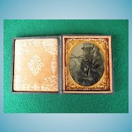 Cased Dog Tintype Tin Type  - 6th Plate