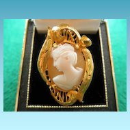 22K Vintage Cameo Ring