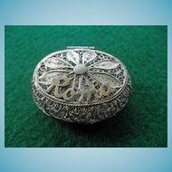 "800 Silver Filigree Box ""ROMA"""