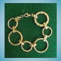 Hand Made 14K Circle Link Bracelet