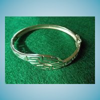 Sterling Hinged Bangle Bracelet