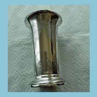 Victorian English Sterling Trumpet Vase 1890