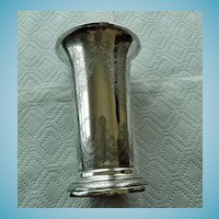 Victorian English Sterling Trumpet Vase 1890