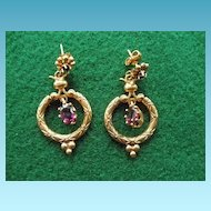 Vintage 14K & Amethyst Earrings Gorgeous