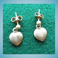 Darling 14K Heart Pierced Earrings