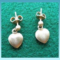 Darling 14K Heart Pierced Earrings