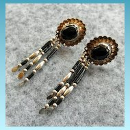 Handmade Southwestern Sterling & Onyx Earrings