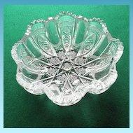 American Brilliant Period Cut Glass Bowl