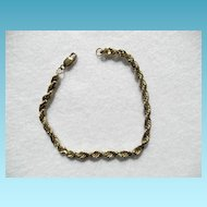 14K Rope Twist Bracelet 11.8 Grams