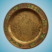 Tiffany Furnaces Favrile Bronze Dore Tray or Plate